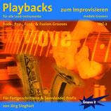 Playbacks zum Improvisieren Vol.2 - modale Grooves - Rock/Funk/Fusion (von Jörg Sieghart / Tunesday-Bestellnummer: GI102)