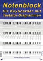 Notenblock für Keyboarder mit Tastatur-Diagrammen (Tunesday Bestellnummer: TB07)