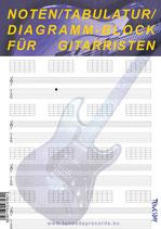 Noten/Tabulatur/Diagramm-Block für Gitarristen (Tunesday Bestellnummer: TB02)