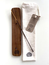 Walnut Incense Holder
