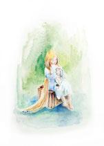 Filidoro / The girl with the golden hair •  illustrazioni di Chiara di Palo • dal libro Cùntame nu cuntu / Tell me a story, di Annamaria Gustapane