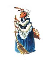 Cummare Furmiculicchia / Miss Ant •  illustrazioni di John Duggan • dal libro Cùntame nu cuntu / Tell me a story, di Annamaria Gustapane
