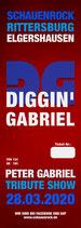TICKET - Diggin' Gabriel - The Peter Gabriel Tribute Show