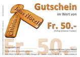 Allgemeiner Gutschein Fr. 50.-