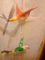 ◆カラフル羽根つき鳥モビールB