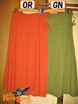 ◆ハンドステッチ ロング丈巻きスカートOR