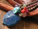◆天然石×ワックスコードネックレス