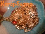 ◆キラキラ☆ゴールド蛙キーホルダー L-A