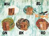 ◆ウッドバックル付ビーズ多連ブレスWH