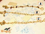 ◆鈴付♪天然石×ワックスコードブレスB水晶