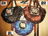 ◆ゾウさん半月型バッグBK