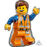 "Ballon Alu Anagram Shape ""Emmet - Lego Movie 2"""