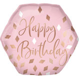 Ballon Alu Rose Gold Blush Birthday