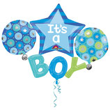 Multi-ballons Anagram - Multiballoon Baby Boy
