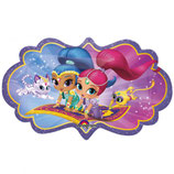 "Ballon Alu Anagram Shape ""Shimmer & Shine"""