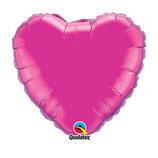 Ballon Coeur Qualatex 90cm gonflé à l'hélium