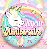 Ballon Alu Birthday Licorne