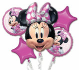 "Bouquet de 5 ballons Alu ""Minnie"""