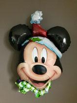 """Ballon """"Mickey Noël"""" gonflé à l'hélium"""