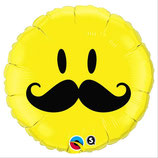 Ballon Alu Qualatex Smiley Moustache