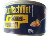 Thunfischfilet in Sonnenblumenöl