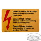 """Aufkleber """"Gefährliche Hochspannung!"""" für Mercedes-Benz Modelle"""