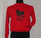 Sudadera Toro Negro Roja