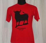 Camiseta Unisex - Toro Negro Roja