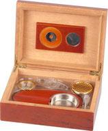 Zigarren-Humidor-Set 1 - Rosenholzfurnier für ca. 25 Zigarren