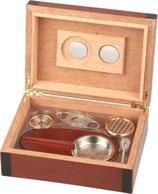 Zigarren-Humidor-Set 3 - Cherry 2-tone für ca. 25 Zigarren