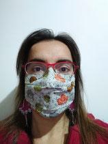 A l'unité - Masque barrière en tissu modèle STANDARD- taille ADULTE (et enfant à partir de 8 ans)