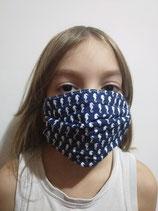 A l'unité - Masque barrière en tissu modèle STANDARD - taille ENFANT de 5 à 7 ans