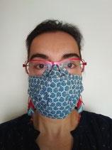 A l'unité - Masque barrière en tissu modèle AMÉLIORÉ- taille ADULTE (et enfant à partir de 8 ans)