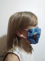 A l'unité - Masque barrière en tissu modèle AMÉLIORÉ - taille ENFANT de 5 à 7 ans