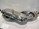 Warmhaltebehälter / Speisenwärmer / Wärmebehälter / Edelstahl oval
