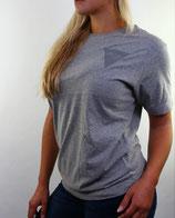 > ZRED back to classic Shirt  < grey/grey- women