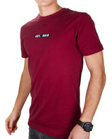 > ZRED Origin embroidered Shirt  < burgundy - men