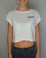 >> ZRED Crop Top << - white - women