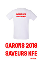 100 tee-shirts Blanc min150gr + Sérigraphie dos 1 coul