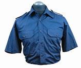 Diensthemd blau - Kurzarm