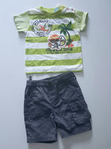 Ensemble T-shirt et short safari Baby Knot
