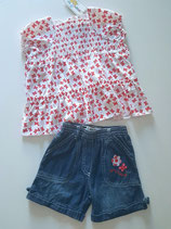 Ensemble blouse papillon et short Teddy Lu