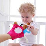 Marionnette gant à doigt avec miroir rose