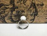 Ringe 925er Silber mit Muttermilchcabochon