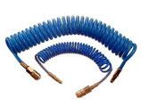Profi Spiral Druckluftschlauch  12x8 mm mit Schnellkuplung und Stecknippel