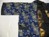 Kimono blau aus Satin
