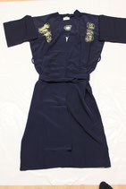 Kimono blau aus Waschseide