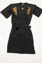 Kimono schwarz aus Waschseide