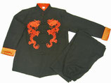 Tai Chi Anzug mit rotem Drachenmotiv
