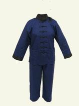 Tai Chi Anzug  Baumwolle dunkelblau